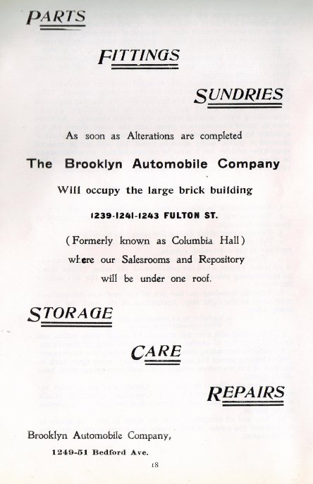 Brooklyn Automobile Co advertisement