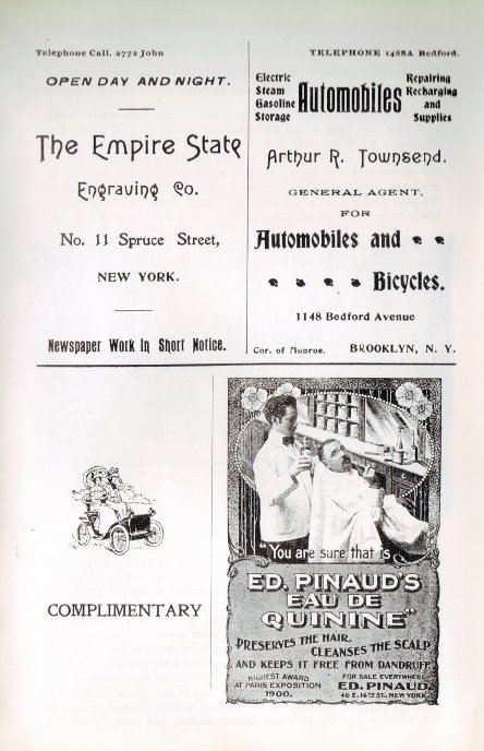 three quarter-page advertisements